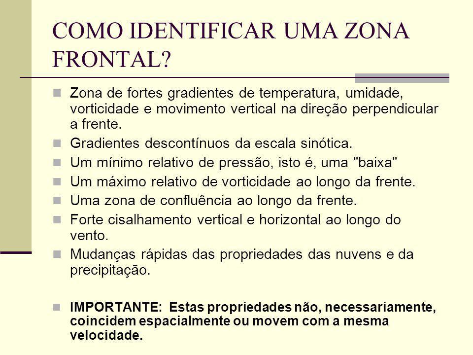 COMO IDENTIFICAR UMA ZONA FRONTAL