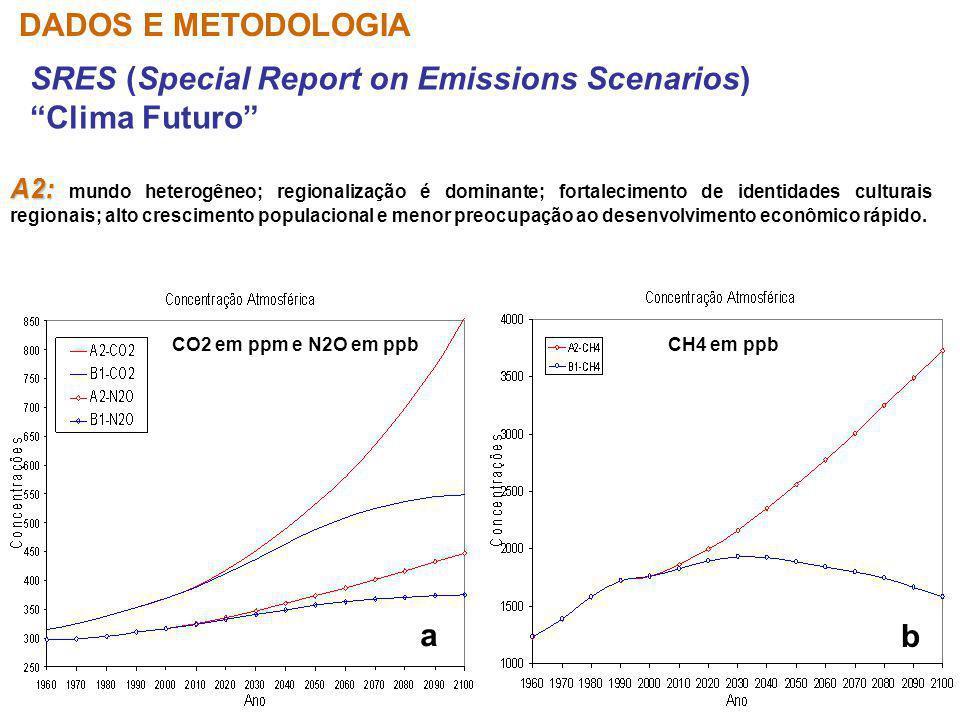 SRES (Special Report on Emissions Scenarios) Clima Futuro