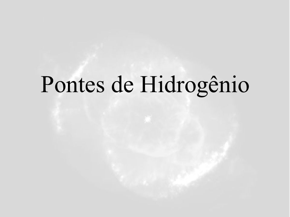 Pontes de Hidrogênio 15