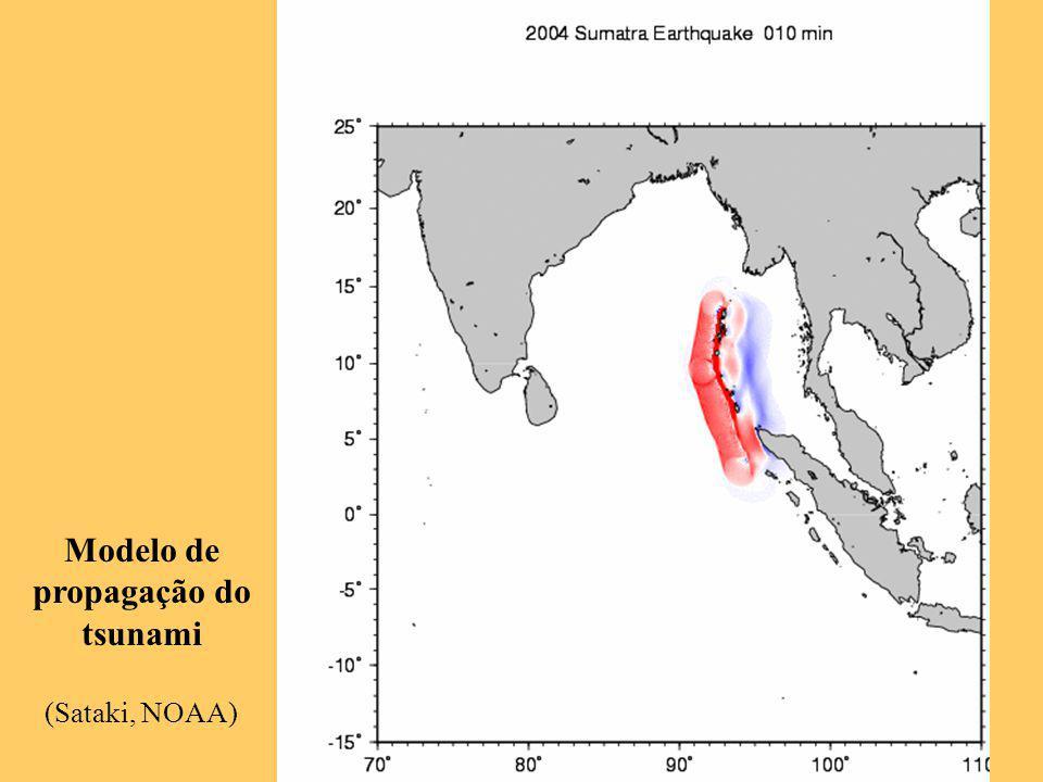 Modelo de propagação do tsunami