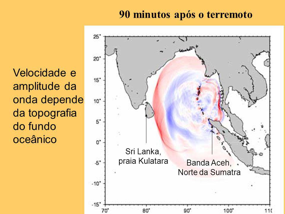 90 minutos após o terremoto