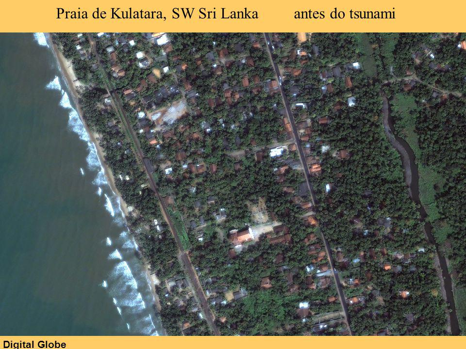 Praia de Kulatara, SW Sri Lanka antes do tsunami