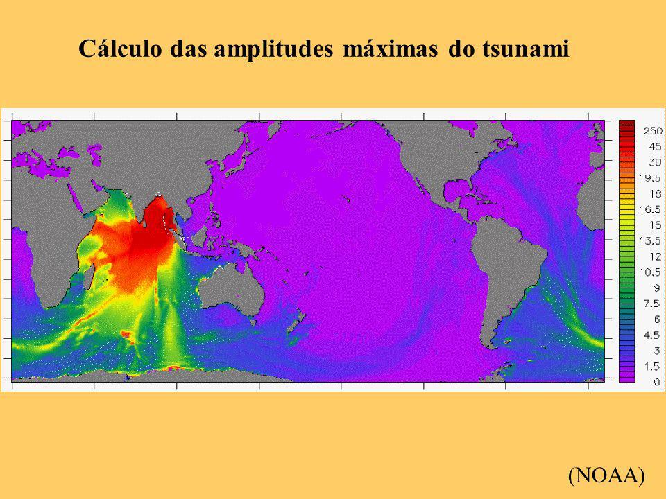 Cálculo das amplitudes máximas do tsunami