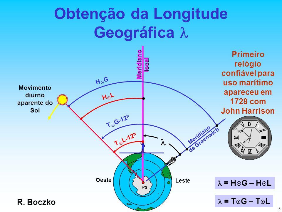 Obtenção da Longitude Geográfica l