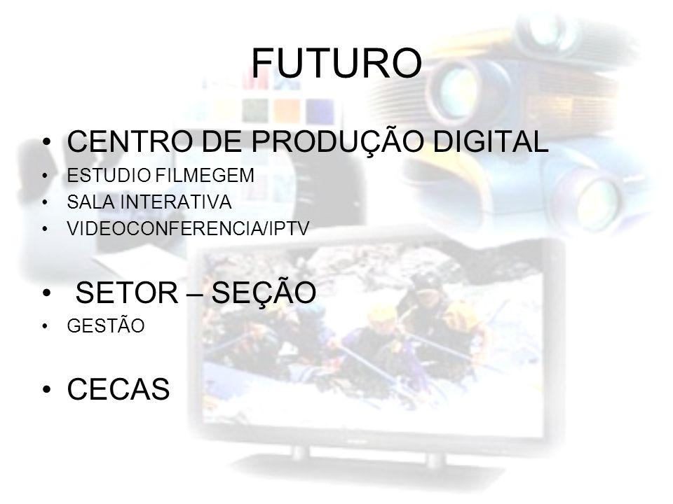 FUTURO CENTRO DE PRODUÇÃO DIGITAL SETOR – SEÇÃO CECAS ESTUDIO FILMEGEM