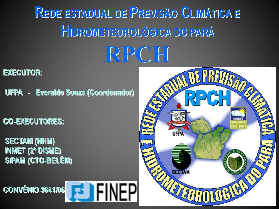 REDE ESTADUAL DE PREVISÃO CLIMÁTICA E HIDROMETEOROLÓGICA DO PARÁ