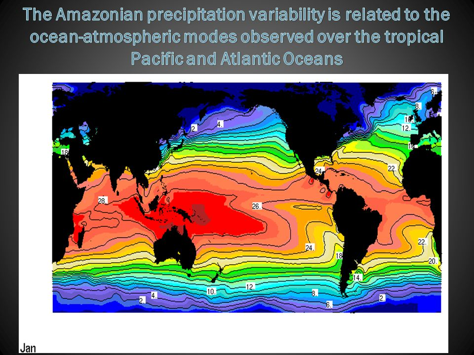 The Amazonian precipitation variability is related to the ocean-atmospheric modes observed over the tropical Pacific and Atlantic Oceans