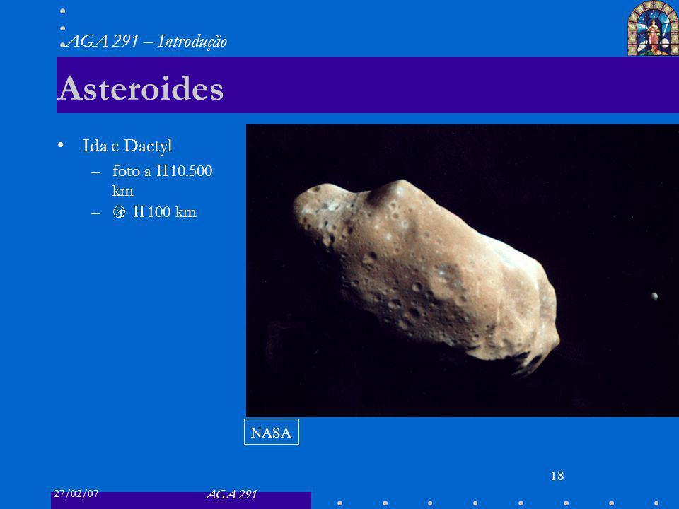 Asteroides Ida e Dactyl foto a ≈ 10.500 km Δr ≈ 100 km NASA