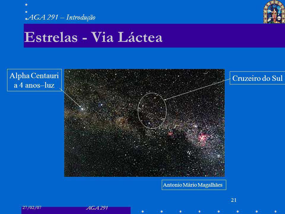 Estrelas - Via Láctea Alpha Centauri Cruzeiro do Sul a 4 anos–luz