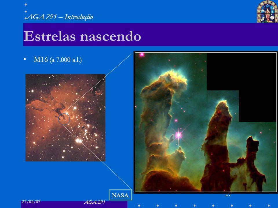 Estrelas nascendo M16 (a 7.000 a.l.) NASA