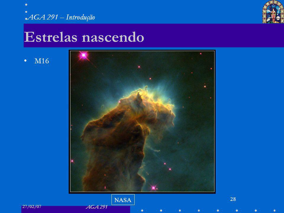 Estrelas nascendo M16 NASA