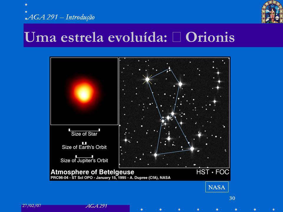 Uma estrela evoluída: α Orionis