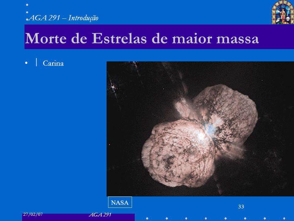 Morte de Estrelas de maior massa