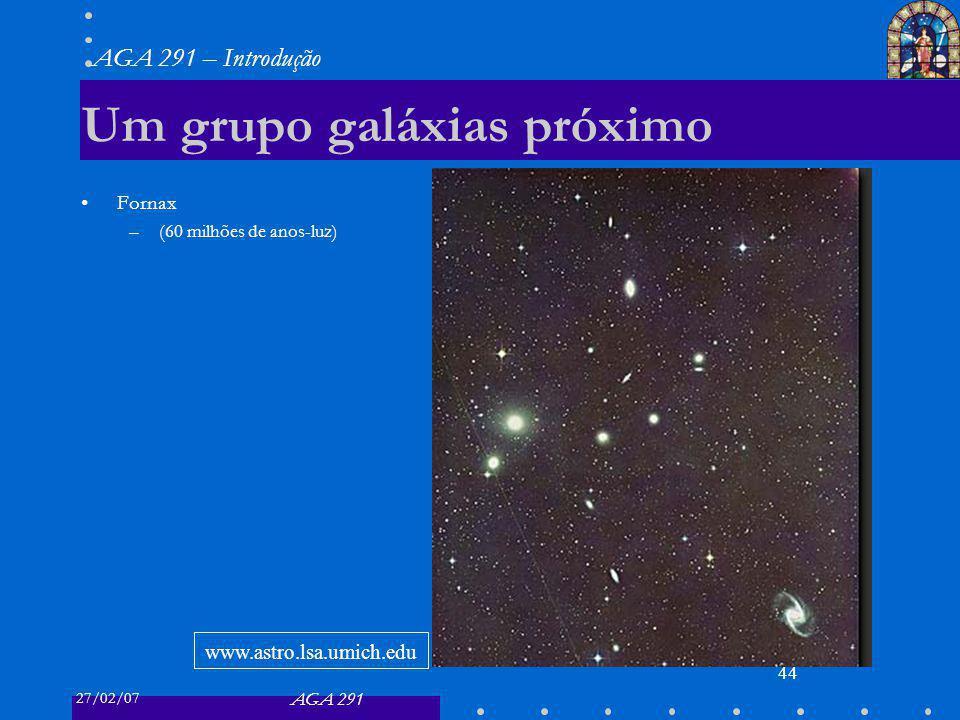 Um grupo galáxias próximo