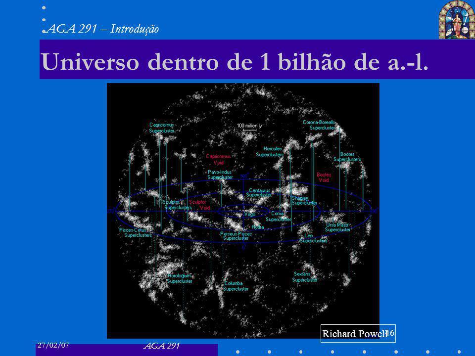 Universo dentro de 1 bilhão de a.-l.