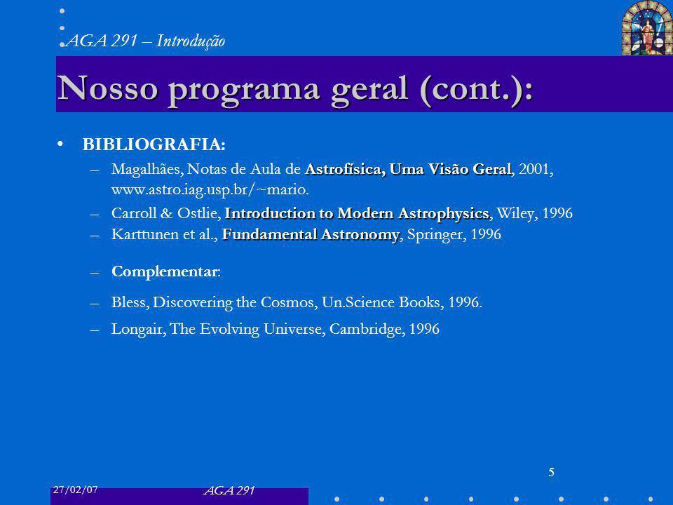 Nosso programa geral (cont.):