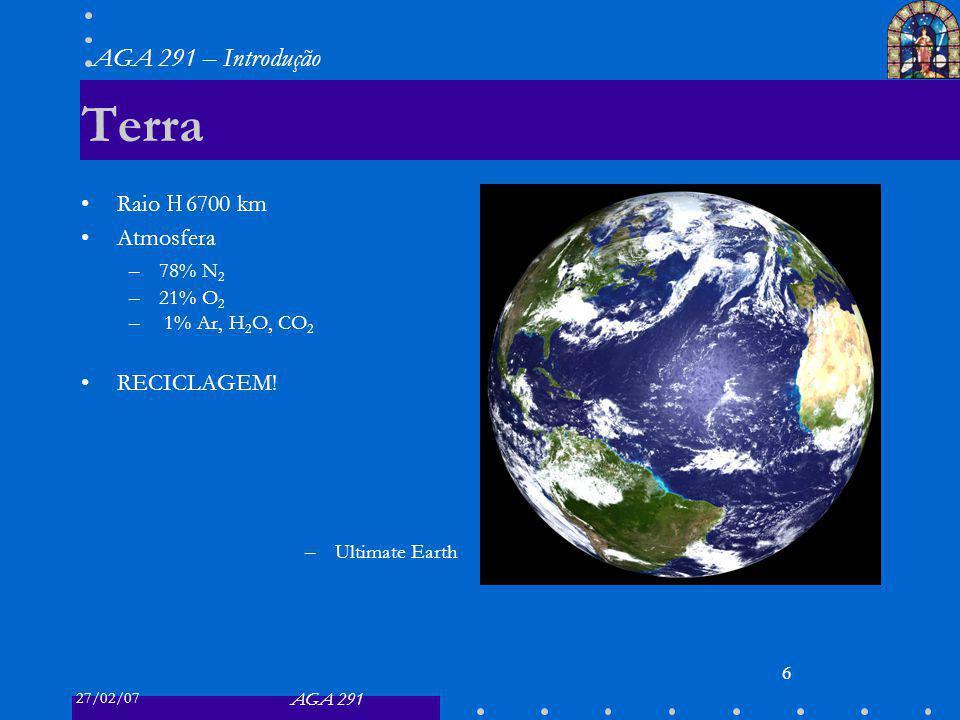 Terra Raio ≈ 6700 km Atmosfera RECICLAGEM! 78% N2 21% O2