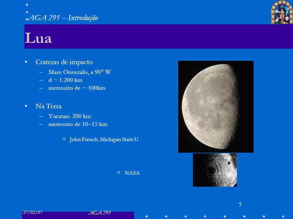 Lua Crateras de impacto Na Terra Mare Orientalis, a 90° W d ~ 1.200 km