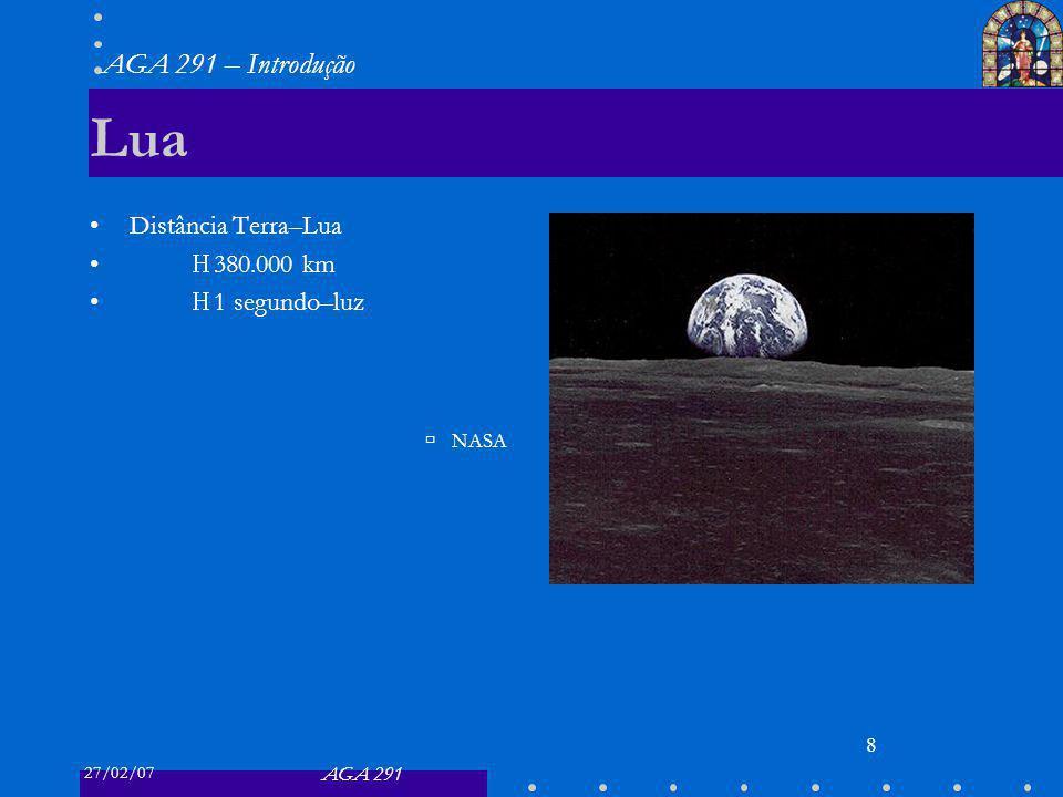 Lua Distância Terra–Lua ≈ 380.000 km ≈ 1 segundo–luz NASA