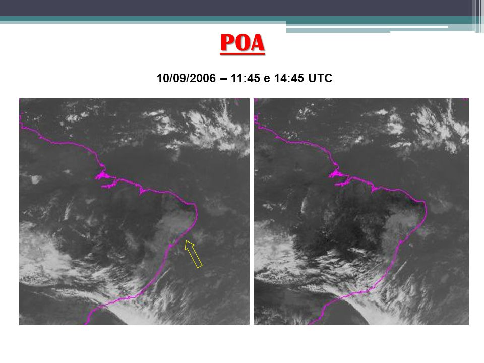 POA 10/09/2006 – 11:45 e 14:45 UTC