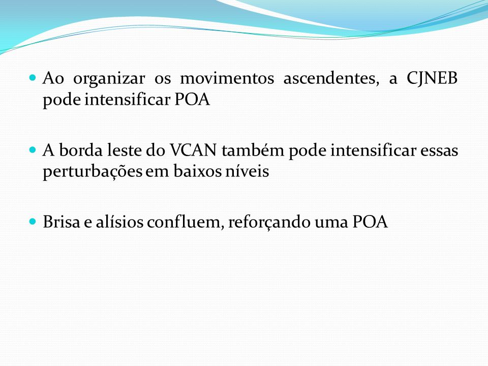 Ao organizar os movimentos ascendentes, a CJNEB pode intensificar POA