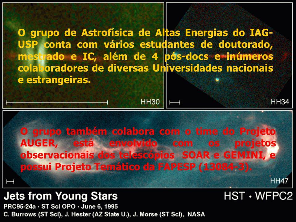 O grupo de Astrofísica de Altas Energias do IAG-USP conta com vários estudantes de doutorado, mestrado e IC, além de 4 pós-docs e inúmeros colaboradores de diversas Universidades nacionais e estrangeiras.