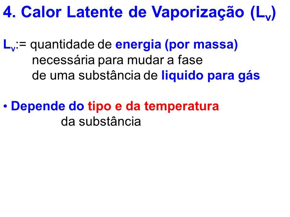 4. Calor Latente de Vaporização (Lv)