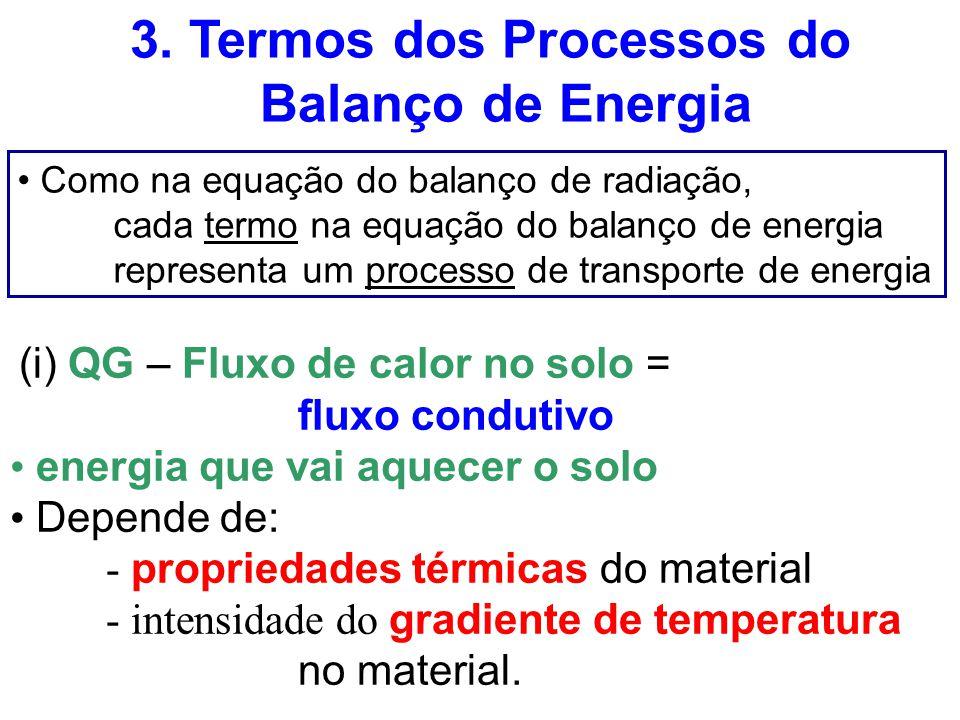 3. Termos dos Processos do Balanço de Energia