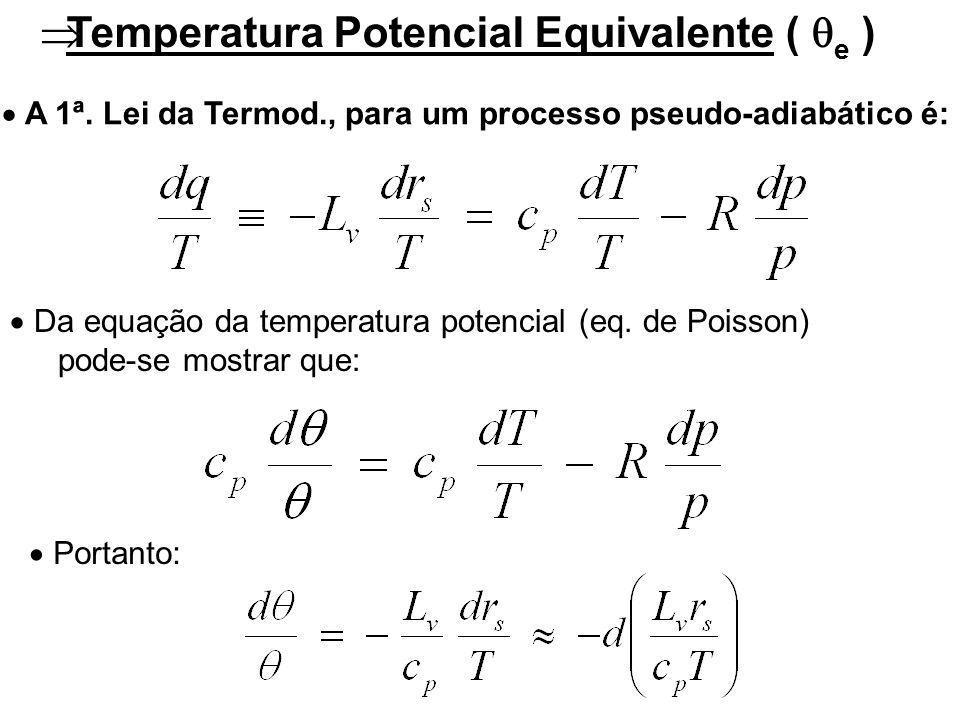 Temperatura Potencial Equivalente ( e )