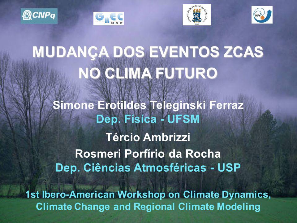 MUDANÇA DOS EVENTOS ZCAS NO CLIMA FUTURO