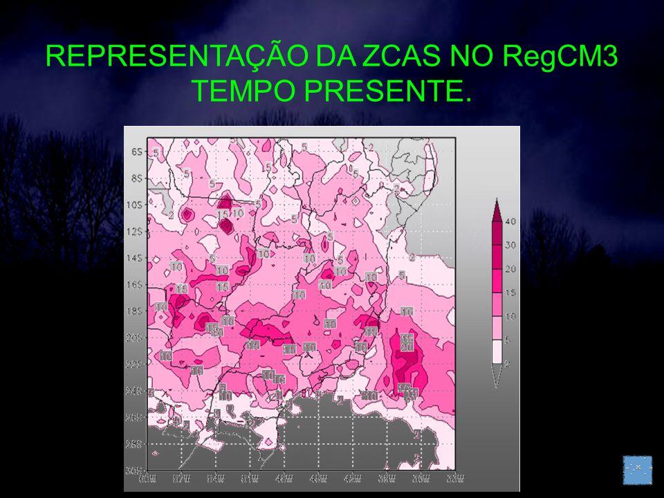 REPRESENTAÇÃO DA ZCAS NO RegCM3 TEMPO PRESENTE.