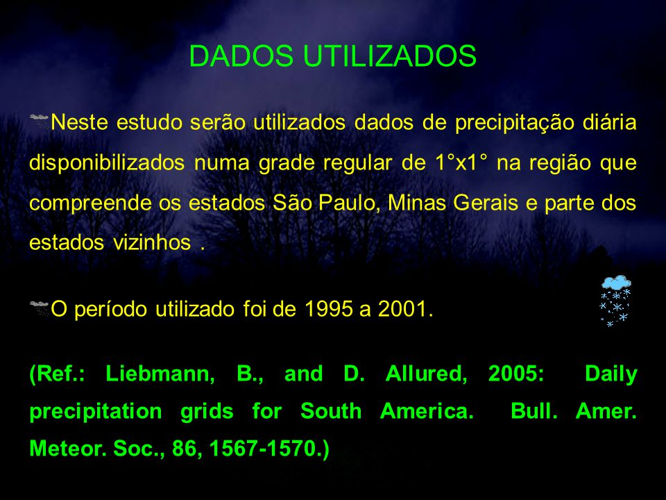 DADOS UTILIZADOS