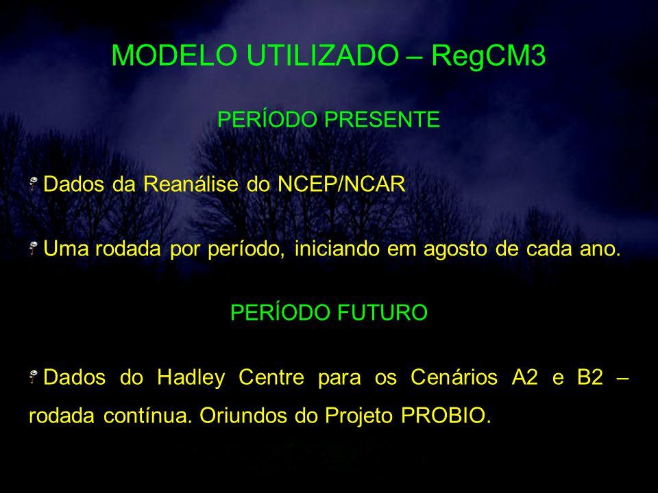 MODELO UTILIZADO – RegCM3
