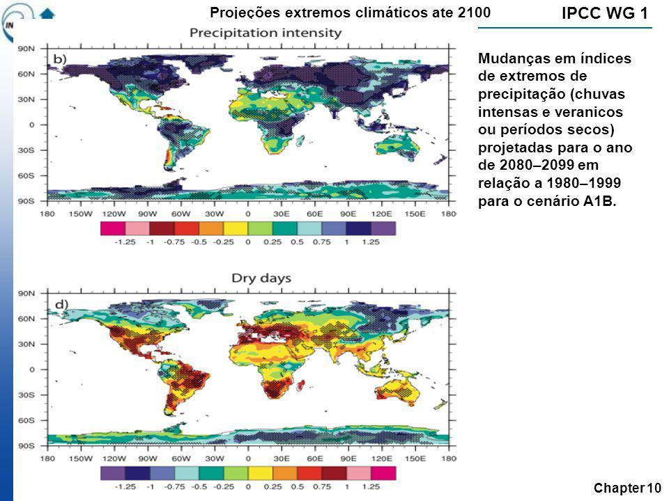 IPCC WG 1 Projeções extremos climáticos ate 2100