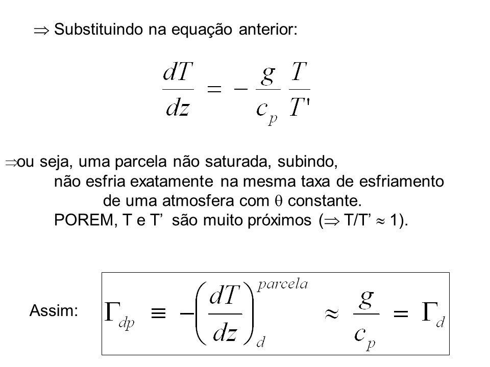  Substituindo na equação anterior: