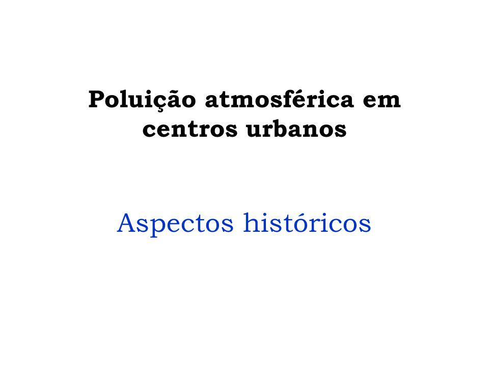 Poluição atmosférica em centros urbanos
