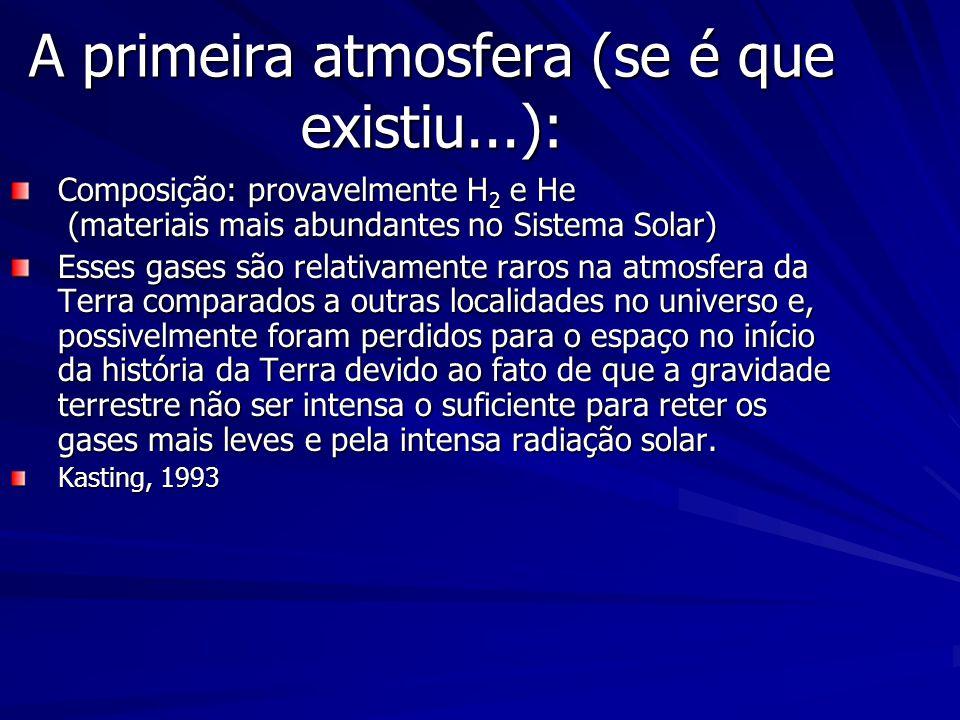 A primeira atmosfera (se é que existiu...):