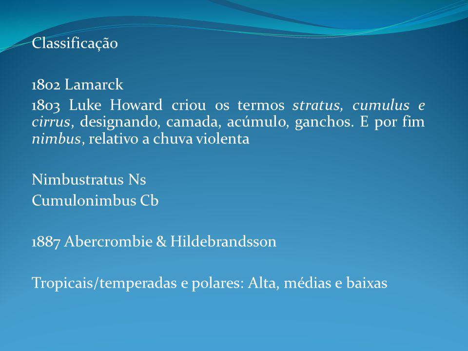 Classificação 1802 Lamarck.