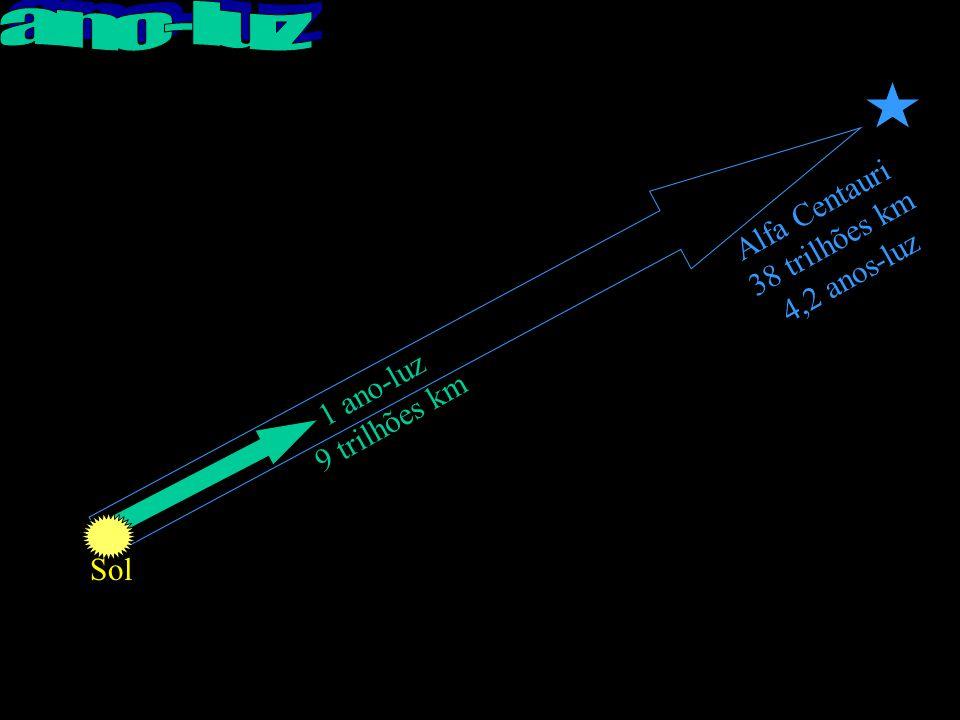 Alfa Centauri 38 trilhões km 4,2 anos-luz