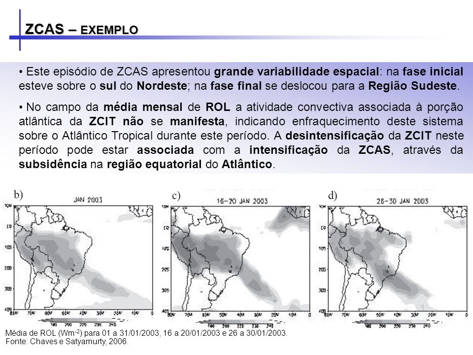 ZCAS – EXEMPLO