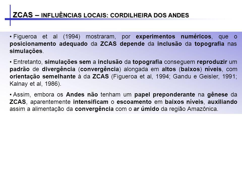 ZCAS – INFLUÊNCIAS LOCAIS: CORDILHEIRA DOS ANDES
