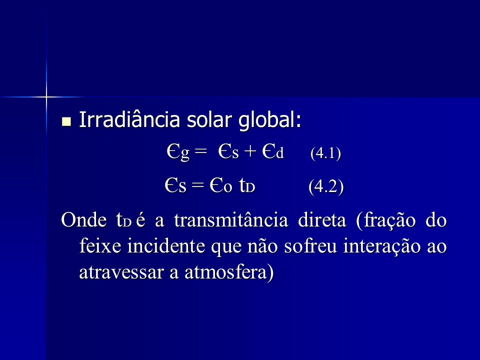 Irradiância solar global: