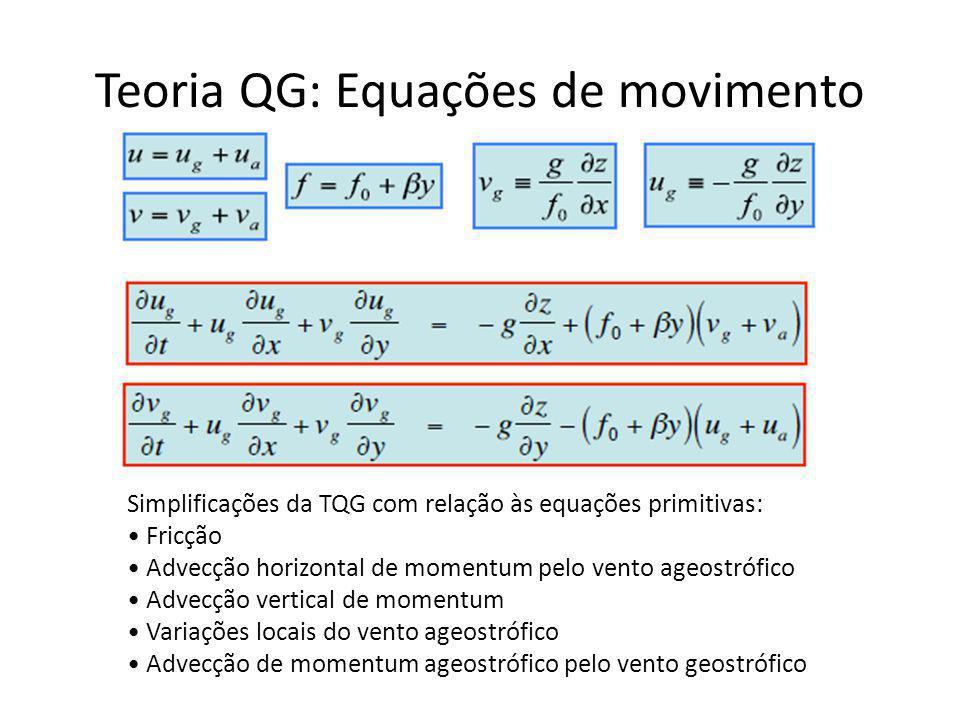 Teoria QG: Equações de movimento