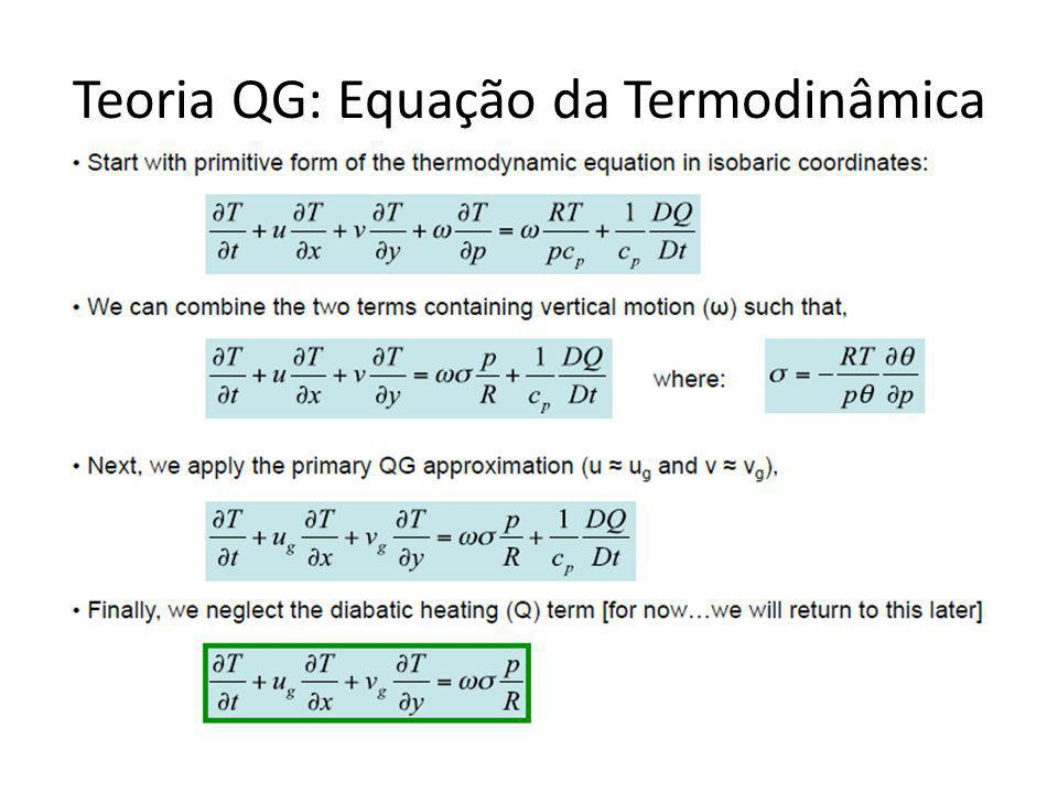 Teoria QG: Equação da Termodinâmica