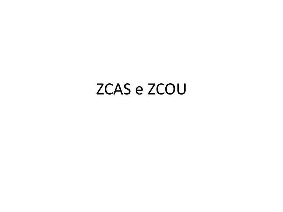 ZCAS e ZCOU