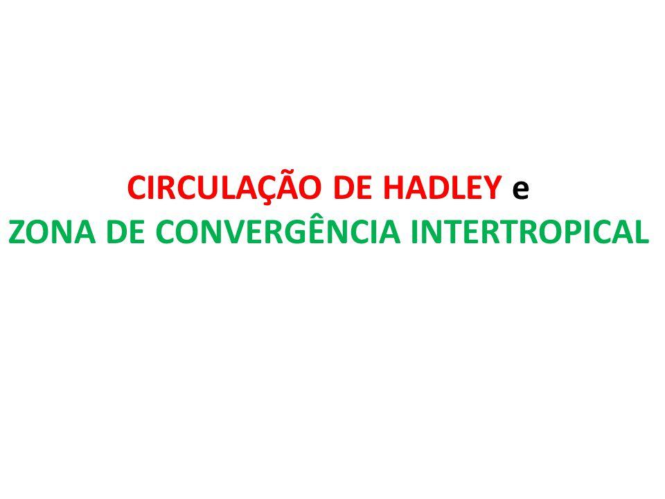 CIRCULAÇÃO DE HADLEY e ZONA DE CONVERGÊNCIA INTERTROPICAL