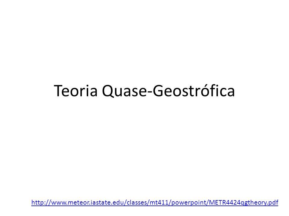 Teoria Quase-Geostrófica