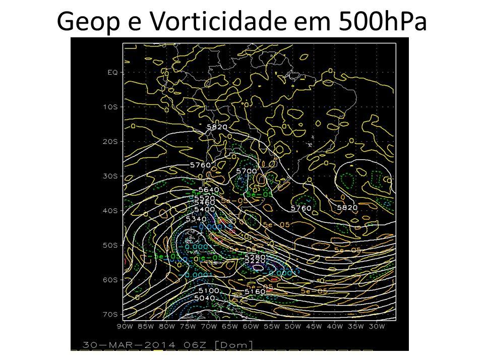 Geop e Vorticidade em 500hPa