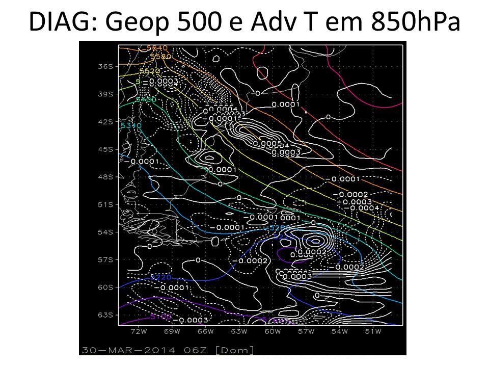 DIAG: Geop 500 e Adv T em 850hPa
