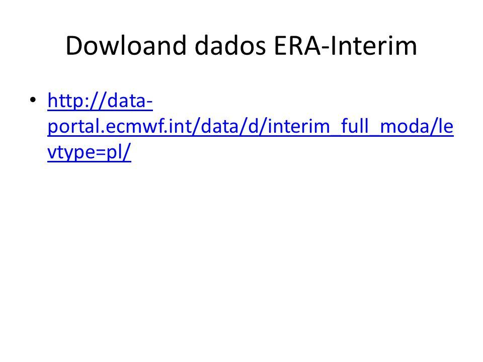 Dowloand dados ERA-Interim